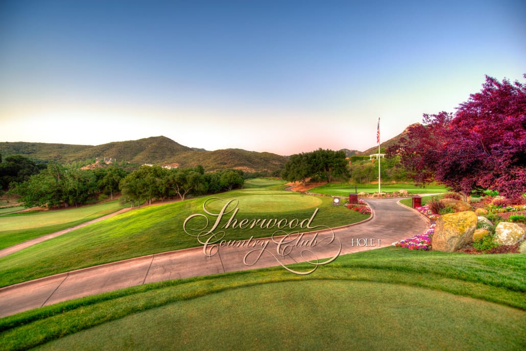 Sherwood Country Club Golf Course, Hole 1